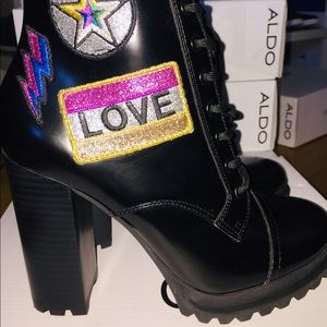 Aldo Black booties - Brand New!! - Glitterati